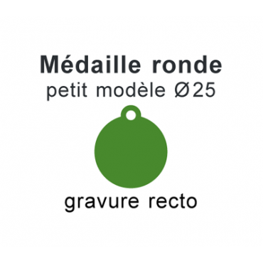Médaille ronde recto 25mm
