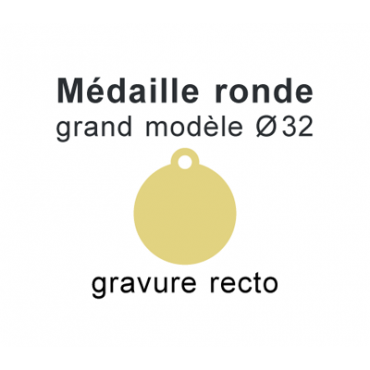 Médaille ronde recto 32mm